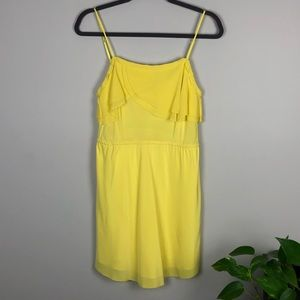 Aritzia Wilfred 100% Yellow Silk Emmanuel Dress Sm